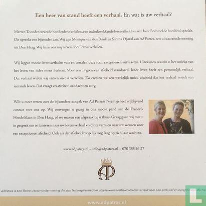 Ad Patres - Een heer van stand heeft een verhaal. En wat is uw verhaal?