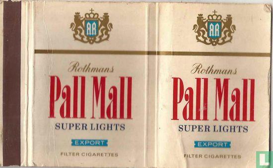 Rothmans Pall Mall Super Lights Export - Afbeelding 1