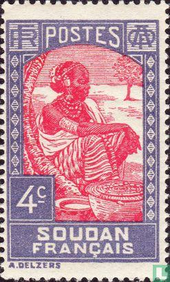 Französisch-Sudan - Markt-Frau