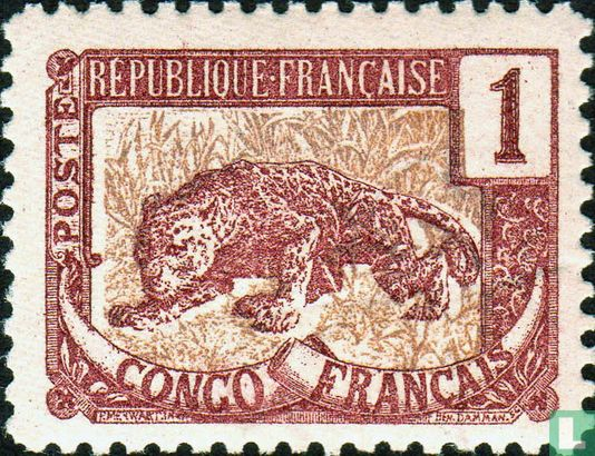 French Congo - Leopard