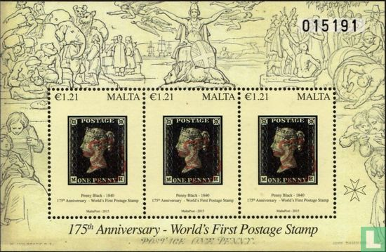 Malta - 175 years first postage stamp