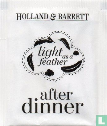 Holland & Barrett - after dinner