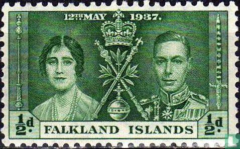 Falklandeilanden - Kroning van George VI