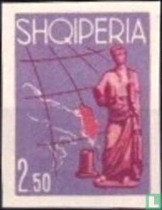 Albanie [ALB] - Déesse de Butrint et carte