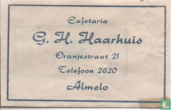 Zakje - Cafetaria G.H. Haarhuis