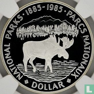 "Canada - Canada 1 dollar 1985 (PROOF) ""100 years National Parks of Canada"""
