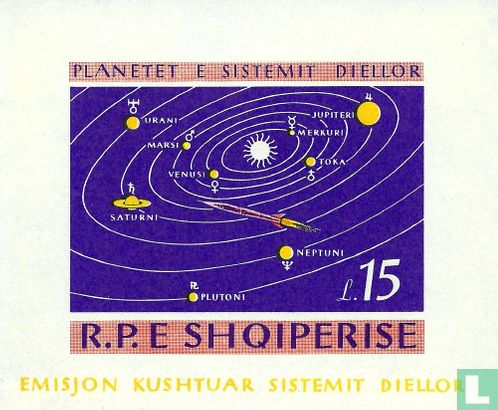 Albanien [ALB] - Planeten des Sonnensystems