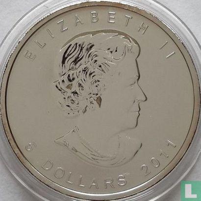 "Canada 5 dollars 2011 (coloured) ""Wolf"" - Image 1"