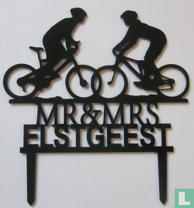 """Taart Decoratie - """"Mr & Mrs Elstgeest"""""""