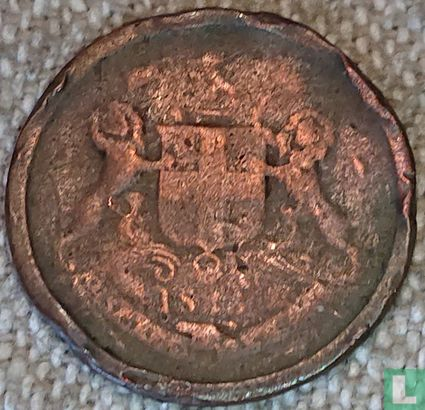 1 pie Bombay 1833 grosse Staben  - Bild 1