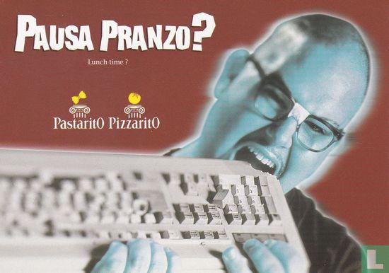 """ToCARD Cartoline Gratuite (logo) - Pastarito / Pizzarito """"Pausa Pranzo?"""""""