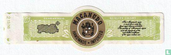 Macanudo - Macanudo Handmade Imported - Guaranteed - Quality Cigars
