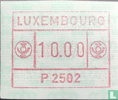 Luxemburg - Automaatzegels