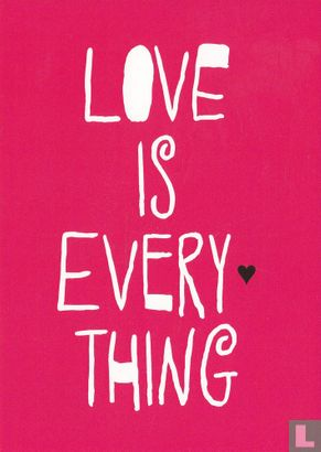 """Go-card - 13380 - Inge Rand Friis-Hasché """"Love Is Every Thing"""""""