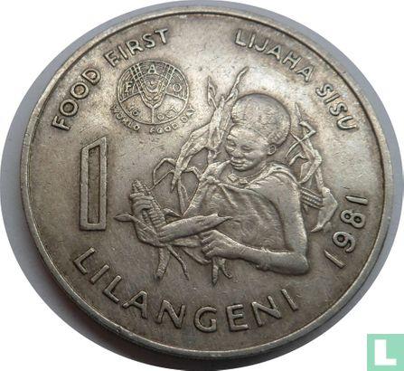 "Swaziland - Swaziland 1 lilangeni 1981 ""FAO"""