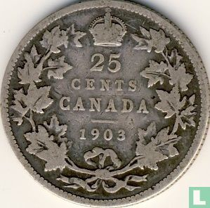 Canada 25 cents 1903 - Image 1