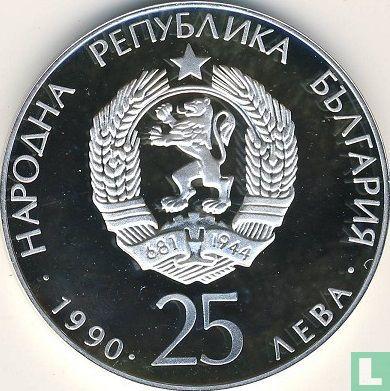 "Bulgarien - Bulgarien 25 Leva 1990 (PP) ""Football World Cup in Italy - Football shoe"""