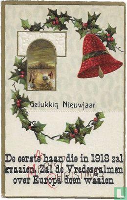 Wenskaart: Kerst & Nieuwjaar - Gelukkig Nieuwjaar