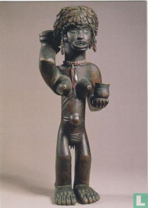 Chokwe - Fetish figure with human hair