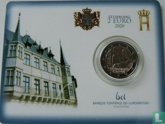 "Luxembourg - Luxembourg 2 euro 2020 (coincard) ""Birth of Prince Charles"""
