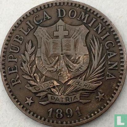 République dominicaine 5 centesimos 1891 - Image 1