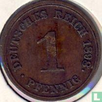 Allemagne - Empire allemand 1 pfennig 1898 (G)