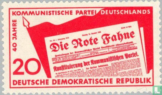 RDA - Parti communiste de 40j Deutschland