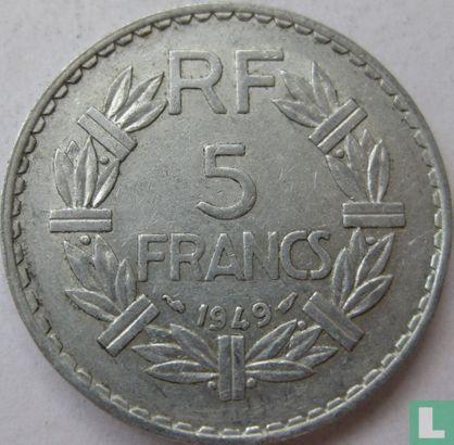 France - France 5 francs 1949 (without B)