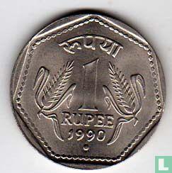 India 1 rupee 1990 (Noida) - Image 1