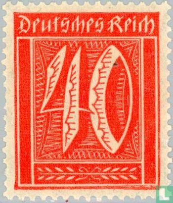 Empire allemand - Chiffre dans rectangle