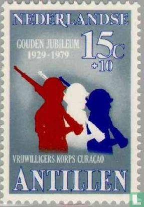 Antilles néerlandaises - 50 and du corps des volontaires