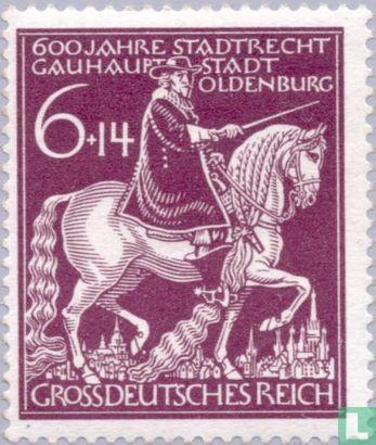 Deutsches Reich - Stadtrechte an Oldenburg 1344-1944