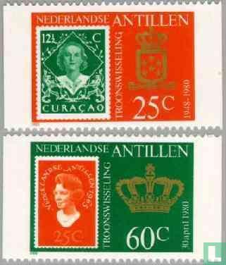 Antilles néerlandaises - Inauguration de la Reine Beatrix
