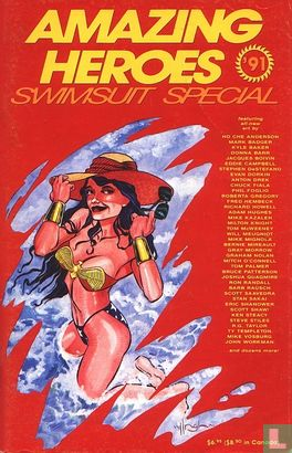 Amazing Heroes (tijdschrift) [USA] - '91 Swimsuit Special