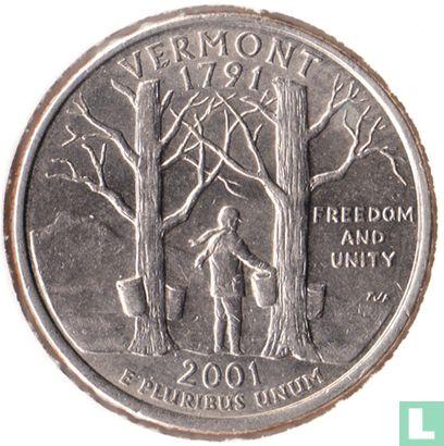 """Verenigde Staten (USA) - Verenigde Staten ¼ dollar 2001 (P) """"Vermont"""""""