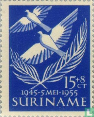 Suriname - 10 years of liberation of the Netherlands