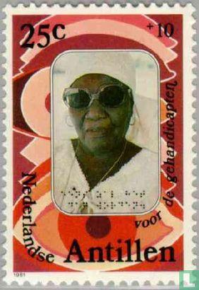 Antilles néerlandaises - Femme aveugle