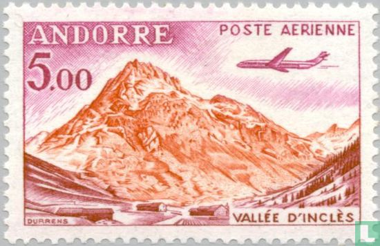 Andorra - French - Airplane above landscape