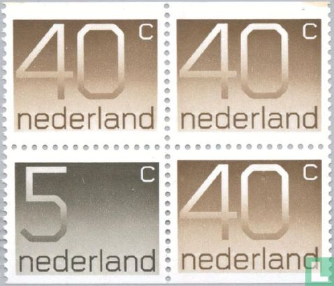 Pays-Bas [NLD] - 1x5, 3x40 haut et en bas édentée