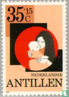 Antilles néerlandaises - Mère et enfant