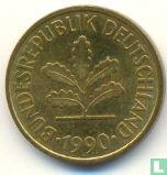 Duitsland - Duitsland 5 pfennig 1990 (J)