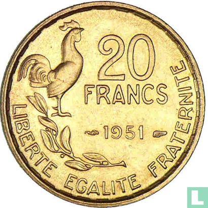 Frankrijk (France) - Frankrijk 20 francs 1951 (zonder B)