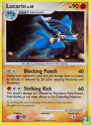 English)2008) Promo - Diamond & Pearl - Pokémon Organized Play series 8 (POP8) - Lucario (Holo)