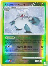 English)2007) Diamond & Pearl - Mysterious Treasures - Abomasnow (reverse)