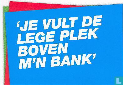 "Boomerang Freecards - B080207 - Mijn Kunst ""Je Vult De Lege Plek..."""