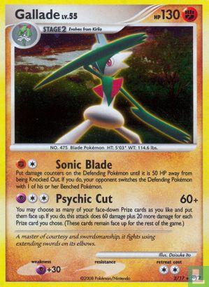 English)2008) Promo - Diamond & Pearl - Pokémon Organized Play series 7 (POP7) - Gallade (Holo)