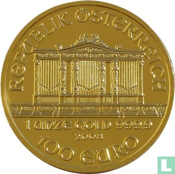 """Oostenrijk - Oostenrijk 100 euro 2008 """"Wiener Philharmoniker"""""""