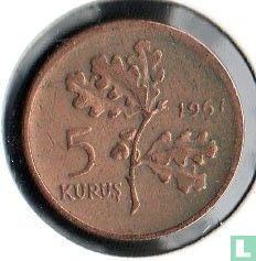 Turquie - Turquie 5 kurus 1967