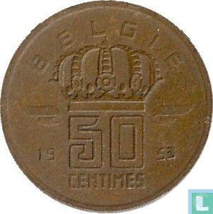 België - België 50 centimes 1953 (NLD)