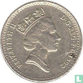 Verenigd Koninkrijk (Groot-Brittannië) - Verenigd Koninkrijk 5 pence 1992
